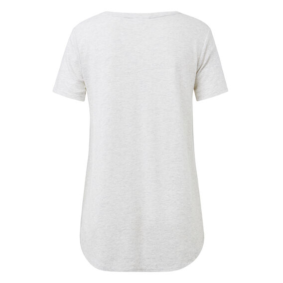 Pretty A-Line Tee  LIGHT GREY MARLE  hi-res