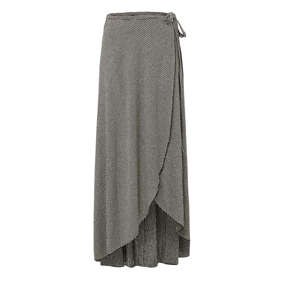 Stripe Wrap Skirt  BLACK/NATURAL  hi-res
