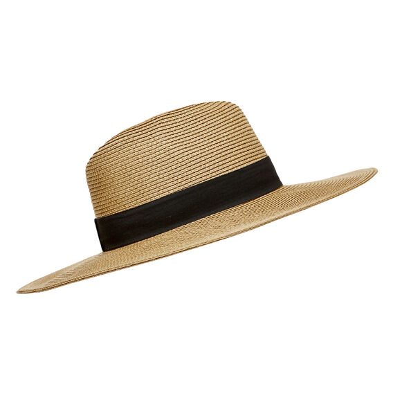 Dressed Wide Brim Hat  NATURAL  hi-res