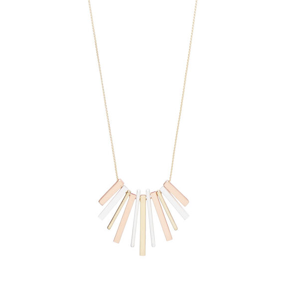 Mixed Metals Bar Necklace  MULTI  hi-res