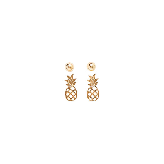 Pineapple Stud Set  GOLD  hi-res