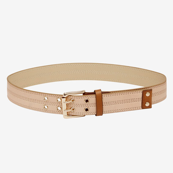 Stitched Eyelet Belt  NUDE  hi-res