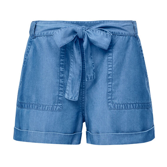 Indigo Tencel Short  TRUE BLUE  hi-res