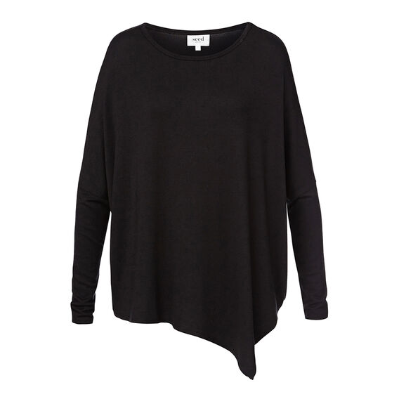 Asymmetrical Sweater  BLACK  hi-res