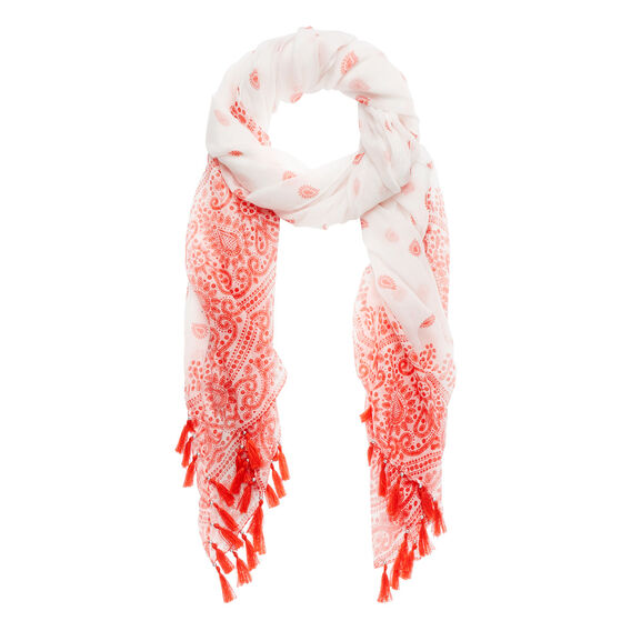 Paisley Tassel Scarf  CAYENNE RED  hi-res