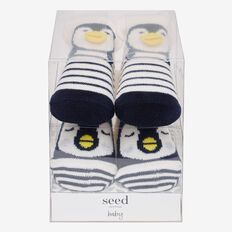 Penguin Sock Gift Box  VANILLA  hi-res
