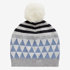Knit Triangle Beanie  CLOUD BLUE  hi-res