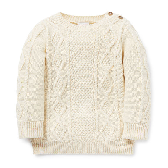 Cable Knit Sweater  RICH CREAM  hi-res