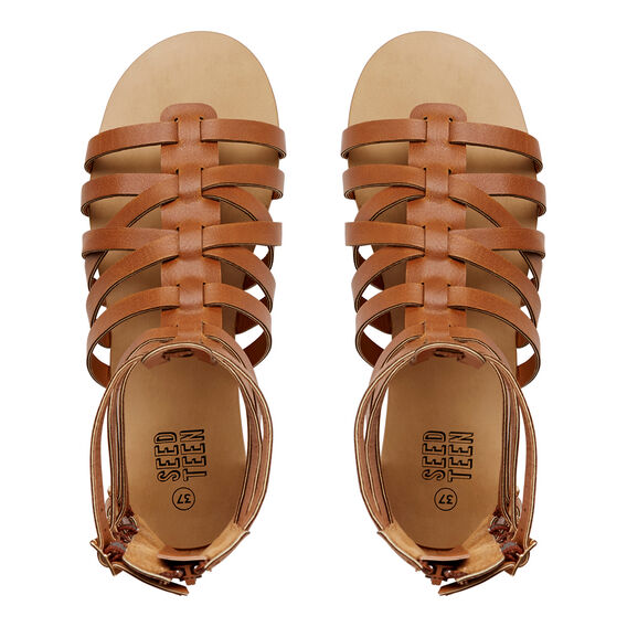 Ankle Gladiator Sandal  TAN  hi-res