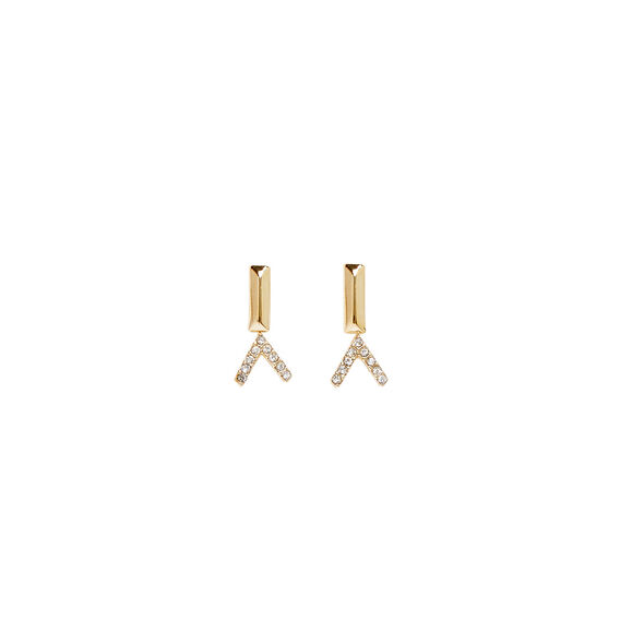 Arrow and Bar Stud Set  GOLD  hi-res