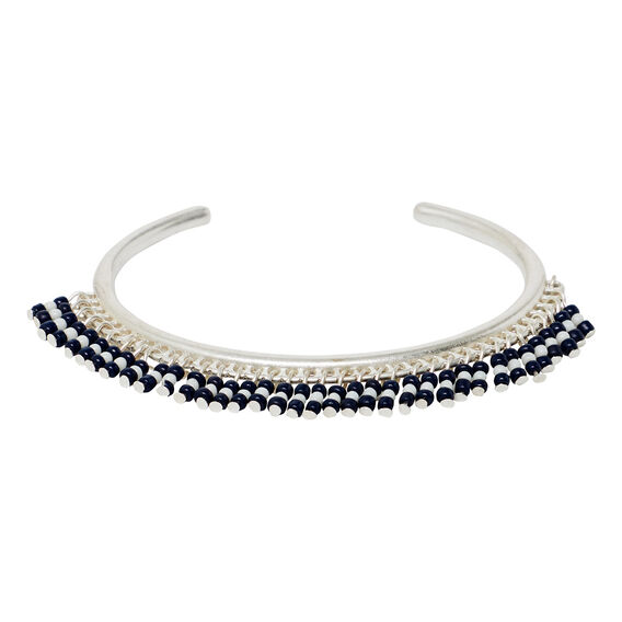 Beaded Cuff  SILVER  hi-res