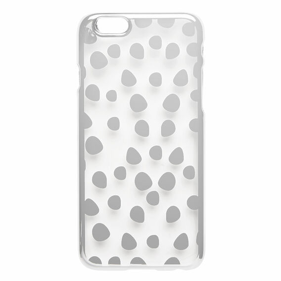 POLKA DOT PHONE CASE 6  SILVER  hi-res