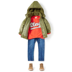 Nylon Bomber Jacket  LIGHT KHAKI  hi-res