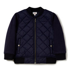 Contrast Bomber Jacket  MIDNIGHT BLUE  hi-res