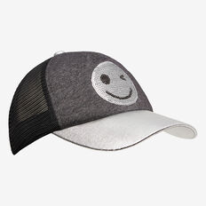 Sequin Smile Cap  BLACK  hi-res