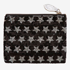 Sequin Star Purse  BLACK  hi-res