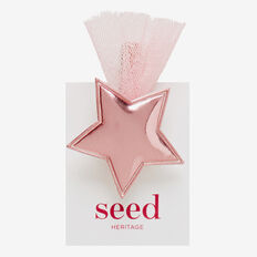 Star and Tulle Duck Clip  PINK  hi-res