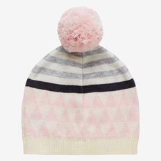 Knit Triangle Beanie  SOFTEST PINK  hi-res
