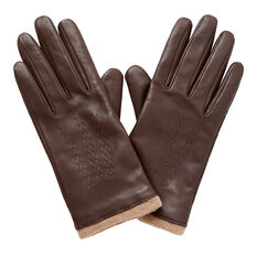 Leather Gloves  CHOCOLATE  hi-res
