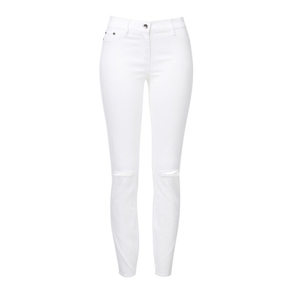Straight Rip Denim Jean  WHITE  hi-res