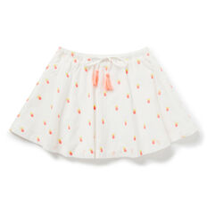 Pineapple Embroidered Skirt  WHITE  hi-res
