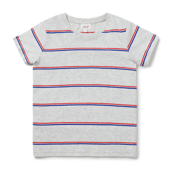 Basic Stripe Tee  SMOKE GREY MARLE  hi-res