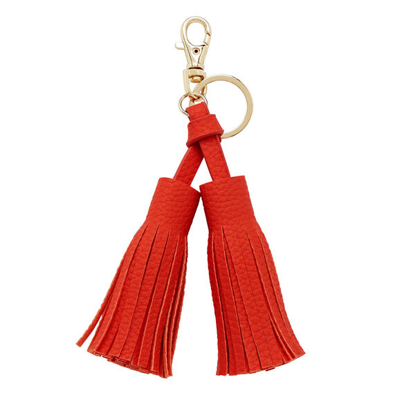 Double Tassel Keyring  CAYENNE RED  hi-res