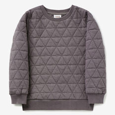 Quilted Sweater  STEEL GREY  hi-res