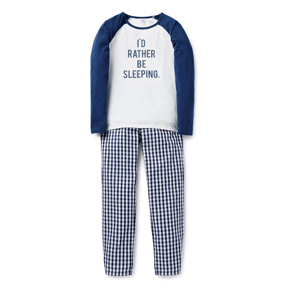 Rather Be Sleeping PJ's  TIGER BLUE  hi-res
