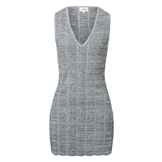 Space Dye Tunic  MID GREY MARLE  hi-res