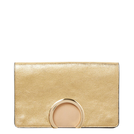 Carrie Cut Out Clutch  GOLD  hi-res
