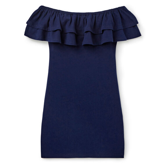 Off-Shoulder Dress  MIDNIGHT INDIGO  hi-res