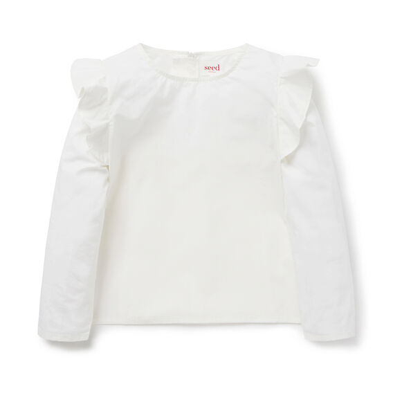 Frill Shoulder Top  CANVAS  hi-res