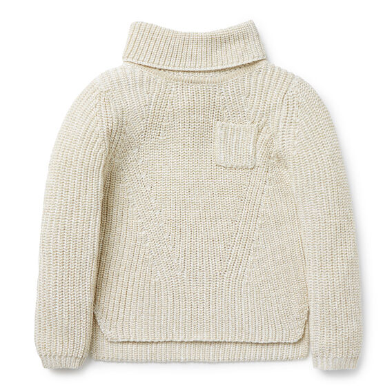 Chunky Roll Neck Sweater  GOLD  hi-res
