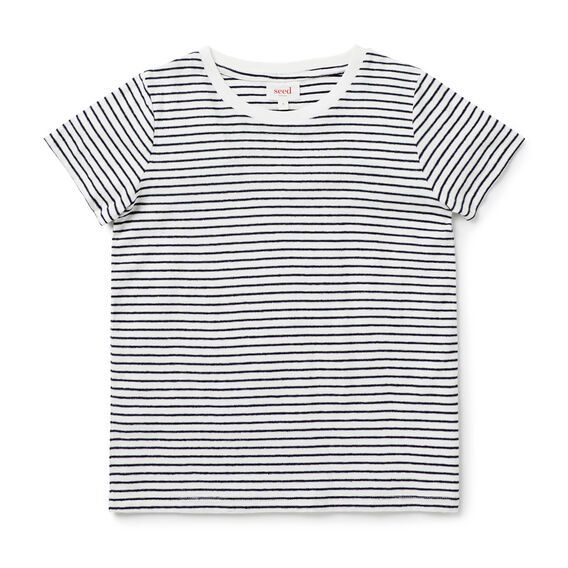 Reverse Stripe Tee  MIDNIGHT BLUE  hi-res