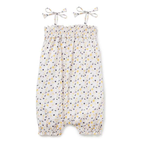 Floral Romper  DOVE GREY  hi-res