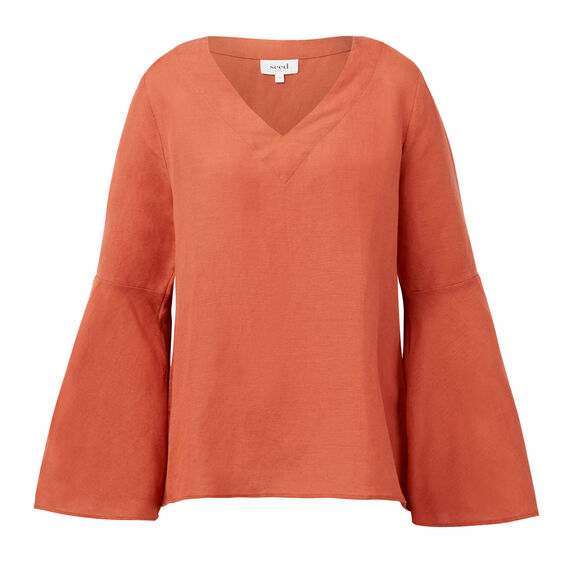 Bell Sleeve Top  CLAY  hi-res