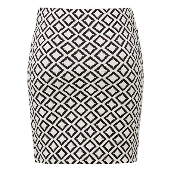 Textured Mini Skirt  BLACK/NATURAL  hi-res