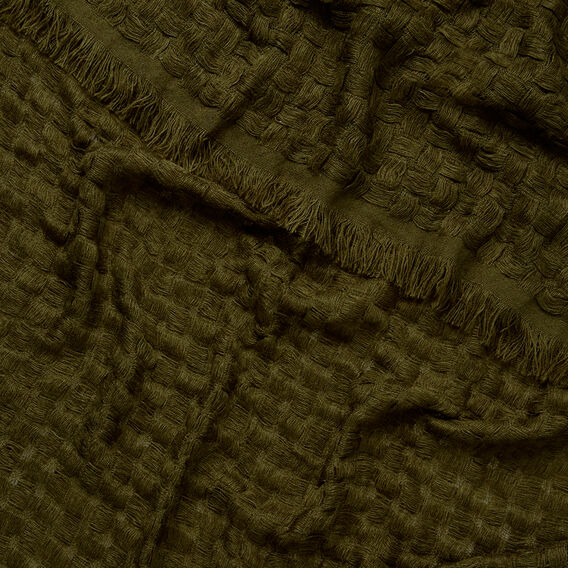 Basketweave Scarf  LIGHT KHAKI  hi-res