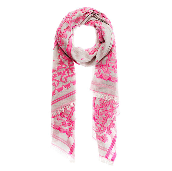 Pop Embroidery Scarf  CACTUS FLOWER  hi-res