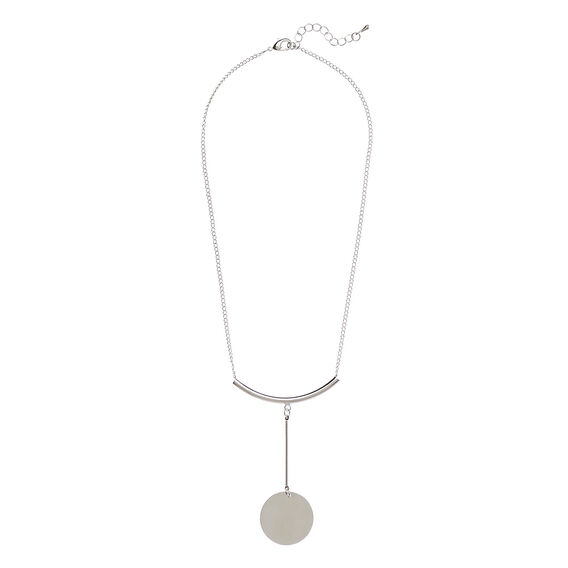 Balanced Short Necklace  SILVER  hi-res