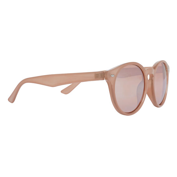 Blush Round Frame Sunglasses  NUDE  hi-res