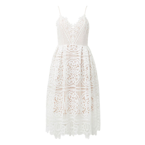 Sweet Broderie Dress  WHITE  hi-res