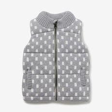 Geo Knit Vest  CEMENT MARLE  hi-res