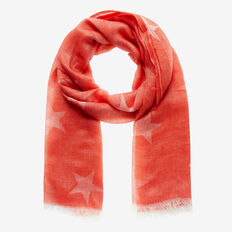 Jacquard Star Scarf  RUBY RED  hi-res