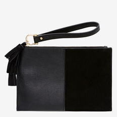 Spliced Tassel Pouch  BLACK  hi-res