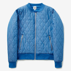 Quilted Bomber  BLUEBELL INDIGO  hi-res