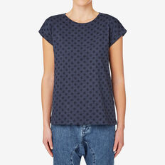 Spotty Marle Tee  INK BLUE  MARLE  hi-res