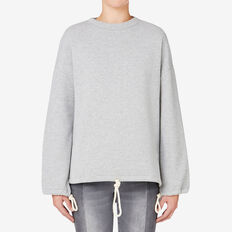 Drawcord Sweater  MID GREY MARLE  hi-res