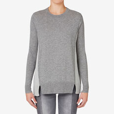 Colour Blocked Sweater  STORM GREY  hi-res